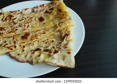 Gozleme pastry with potatoes roasted