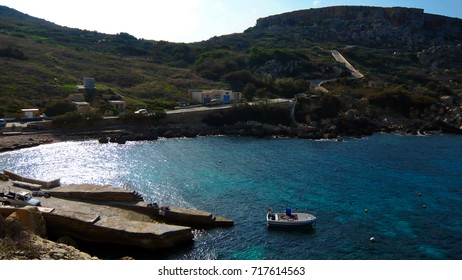 Gozo bay.  Gozo is a small Island near Malta in the Mediterranean and a famous backdrop for many TV shows and films