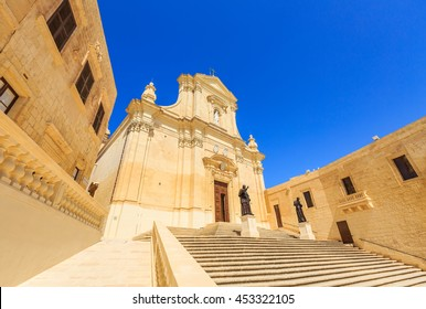 Gozo cathedral, roman catholic cathedral of Victoria in Gozo, Malta