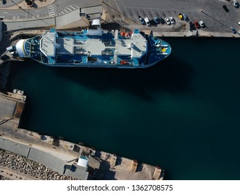 Gozo channel ferry line. A ferry that commutes between the islands of Gozo Malta and Comino  in a beautiful day inside the harbor of Gozo.