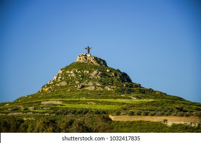 Gozo, Malta - March 12, 2017: A view of the Tas-Salvatur Hill on Gozo Island