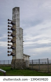 Gozon, Asturias / Spain - November 2nd 2015 : Lighthouse at Cabo Peñas in Principado de Asturias