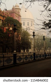 GPO and Dalhousie Square on a Foggy Winter Morning, Calcutta (Kolkata), India