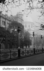 GPO and Dalhousie Square on a Foggy Winter Morning, Calcutta (Kolkata), India
