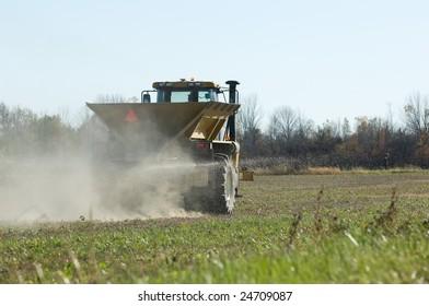 GPS controlled Winter Wheat fertilizer spreader.