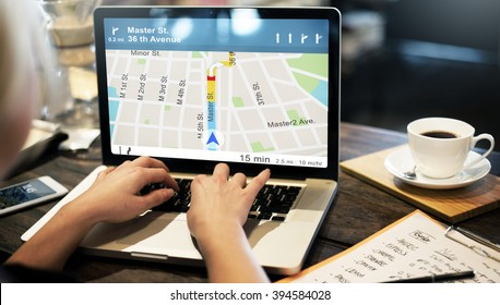 GPS Navigation Directions Location Map Concept