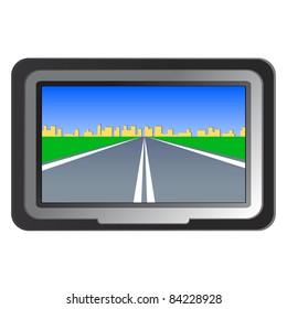 GPS navigation -  illustration