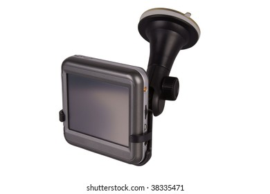 GPS navigation system with clipping path.
