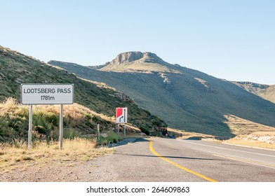 GRAAFF REINET, SOUTH AFRICA - JANUARY 6, 2015: Lootsberg Pass between Graaff Reinet and Middelburg in South Africa. The pass is often closed in Winter due to heavy snowfalls