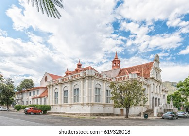 GRAAFF REINET, SOUTH AFRICA - MARCH 22, 2017: The historic town hall in Graaff Reinet, a town with more than 200 buildings declared as a national monument