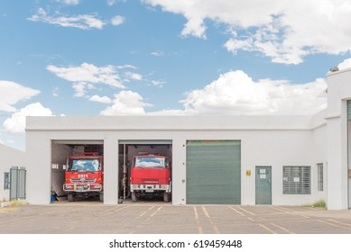 GRAAFF REINET, SOUTH AFRICA - MARCH 22, 2017: The firestation in Graaff Reinet, a town with more than 200 buildings declared as a national monuments