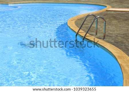 Grab Pool Swimming Pool Clean Blue Stock Photo (Edit Now