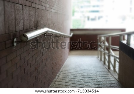 Grab Stairs Wall Universal Design Stock Photo (Edit Now) 713034514