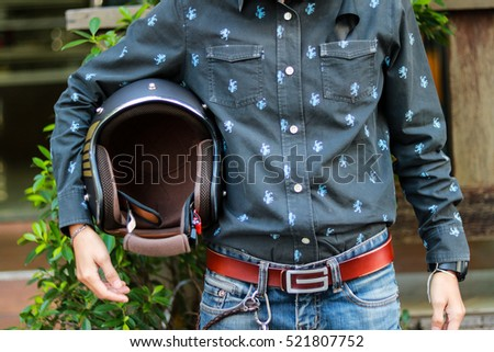 Grab Your Helmet Ride Safety Lonely Stock Photo (Edit Now