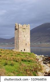Grace Oâ??Malleyâ??s Castle at Kildavnet, Achill Island, Mayo, Ireland