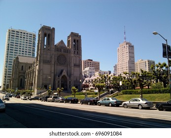 Grace Cathedral on Nob Hill in San Francisco