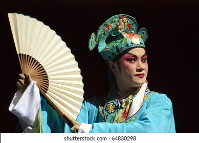 a  graceful chinese opera  actor