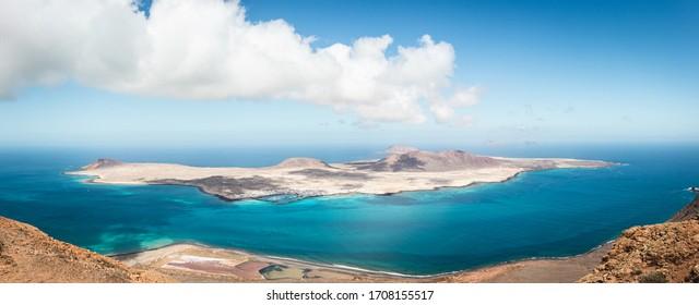 Graciosa island north of lanzarote