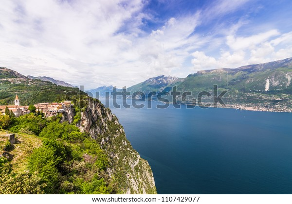 Grada Lake Terrazza Del Brivido Stock Photo Edit Now