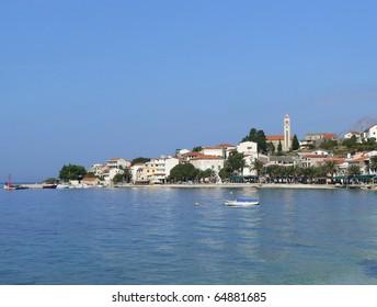 Gradac - touristic town in Croatia, Adriatic sea, Dalmatia