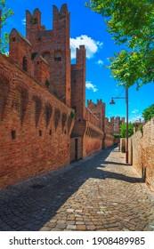 Gradara medieval village walls, Pesaro and Urbino, Marche region, Italy Europe