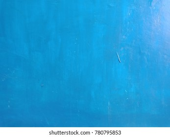 Gradient blue concrete wall as background