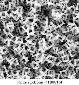 Gradient monochrome square shape pattern, abstract background, digital illustration art work.