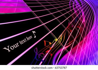 gradient musical pattern