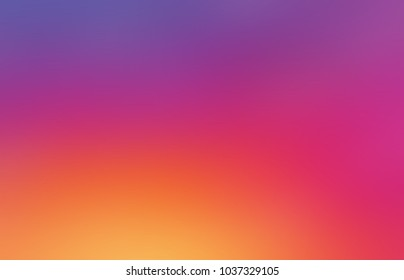 Gradient pink yellow violet empty background. Ombre abstract texture. Watercolor simple blurred illustration. Colorful neutral defocused template.