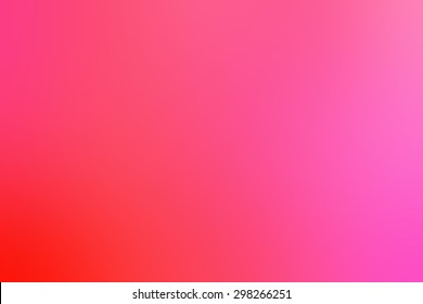 Gradient soft blurred abstract background for your design. Pink red color.
