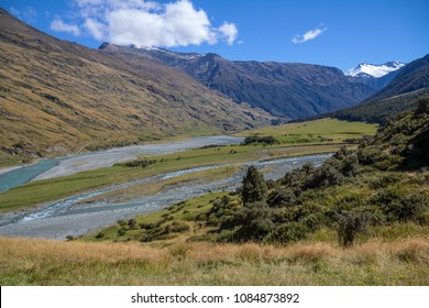 With a gradual climb up hill from a river valley, the Rob Roy Glacier Track in Mount Aspiring National Park, near Wanaka on New Zealand's South Island makes for a an ideal, short tramp.