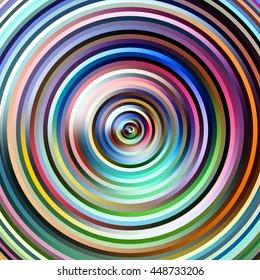 Graduated narrow stripes circles illustration.