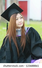 graduation asia women with degree suit