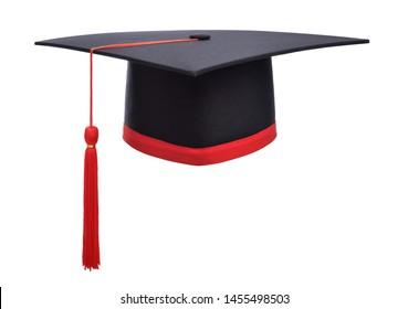 Graduation cap isolated on white background.