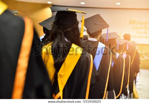Graduation Ceremony ,Congratulated the graduates  in University.