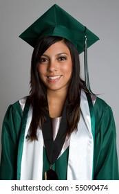 Graduation high school girl smiling