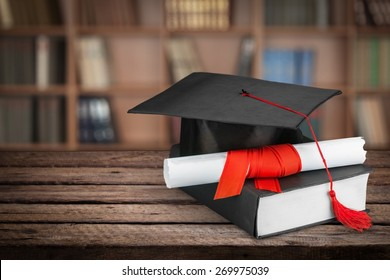 Graduation, Mortar Board, Diploma.