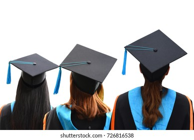 graduation on white isolated background,and save path selection