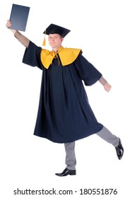 Graduation student with diploma