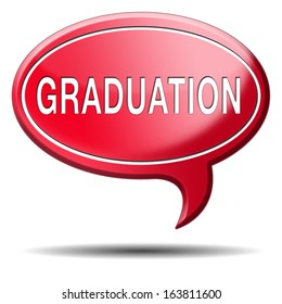 graduation at university college or high school finish education