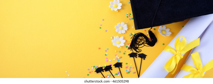 Graduation web banner background, sized to fit a popular social media cover image placeholder.