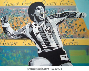 Graffiti of Diego Maradona