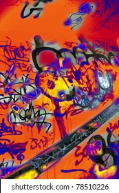 Graffiti fragment background