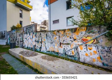 Graffiti on remnants of the Berlin Wall, in Berlin, Germany.