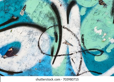 Graffiti on the wall. Beautiful abstract background