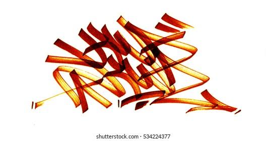 Graffiti Sketch Dessin / KWAKWA Feutre