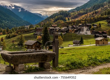 Grafschaft, small town in Wallis (Switzerland)