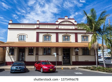 GRAFTON, AUSTRALIA – April 9, 2019: Facade of the heritage building of the Methodist Church, built in 1923 on Prince Street in central Grafton, a town in northern New South Wales, Australia