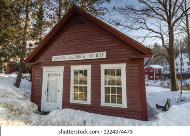 Grafton, NY / USA - 03-06-2015: The Grafton Historical Society was organized on August 2, 1962 to keep alive the memory of sturdy men and women who turned a wilderness into a heritage of which the peo