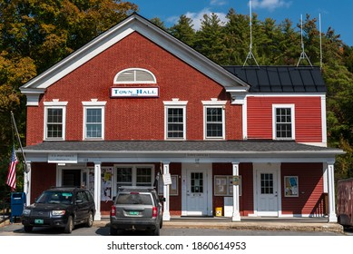 Grafton, Vermont, USA. September 25, 2020. The Grafton Vermont town hall, built in 1816.